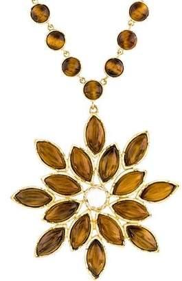 Irene Neuwirth 18K Tiger's Eye & Diamond Pendant Necklace