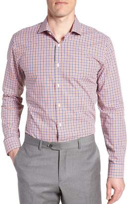 Nordstrom Check Print Trim Fit Dress Shirt