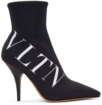 Valentino Black Garavani Neoprene VLTN Boots