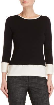 Vila Milano Tipped Pearl Trim Sweater