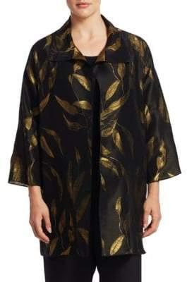 Caroline Rose Plus Party Leaf Jacket