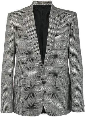 Givenchy multi-pattern floral effect blazer
