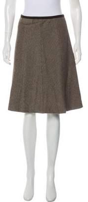 Max Mara Weekend Herringbone Knee-Length Skirt