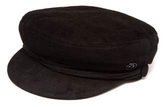 Maison Michel New Abby Suede Sailor Cap - Womens - Black