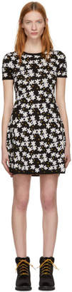 Kenzo Black Fit and Flare Flower Dress