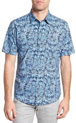 Zachary Prell Slack Palm Print Sport Shirt