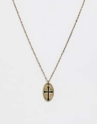 ICON BRAND neck chain with cross pendant in gold