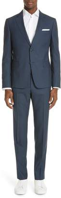 Ermenegildo Zegna Trim Fit Solid Wool Travel Suit