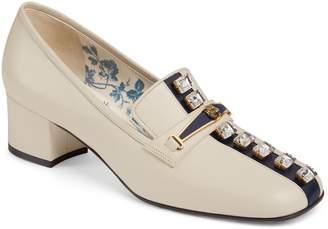 Gucci Crystal Embellished Loafer Pump