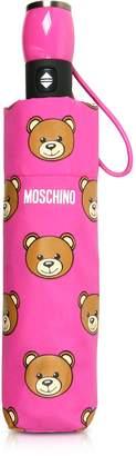 Moschino Teddy Heads Fuchsia Mini Umbrella