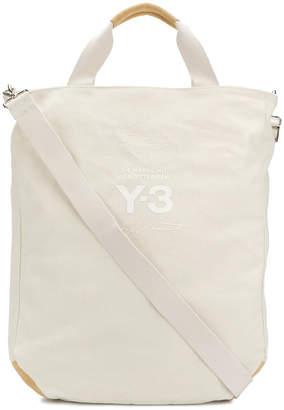 Y-3 logo print tote bag