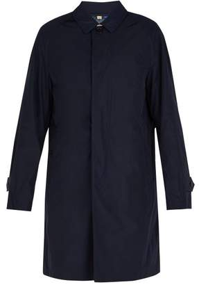 Burberry Wool And Cashmere Blend Car Coat - Mens - Navy