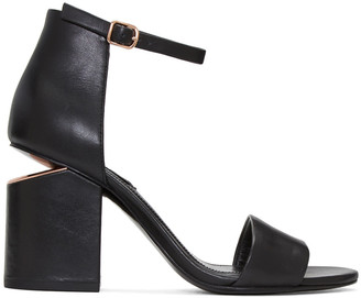 Alexander Wang Black Abby Sandals $475 thestylecure.com