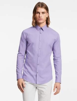 Calvin Klein slim fit cotton micro check shirt