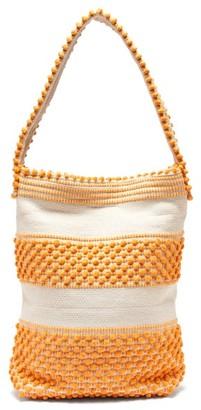 Antonello Tedde Bultei Cotton Shoulder Bag - Womens - Yellow White