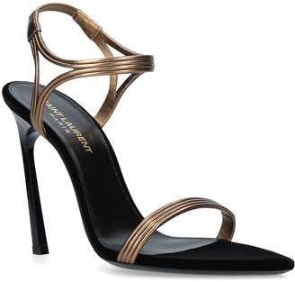 Saint Laurent Leather Talitha Sandals 105