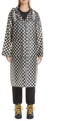 Proenza Schouler PSWL Checkerboard Hooded Raincoat