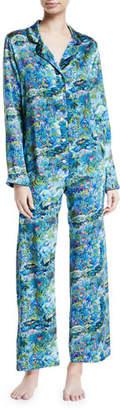 Derek Rose Brindisi Silk Pajama Set