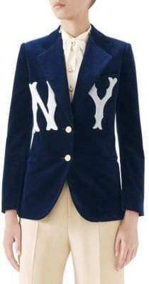 Gucci Velvet NY Blazer