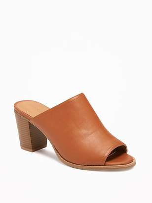 Faux-Leather Open-Toe Mules for Women $39.94 thestylecure.com
