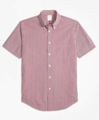 Brooks Brothers Regent Fit Check Seersucker Short-Sleeve Sport Shirt