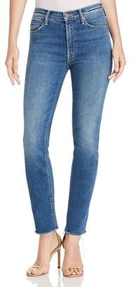 Mother The Hustler Ankle-Length Frayed Jeans in Big Sky
