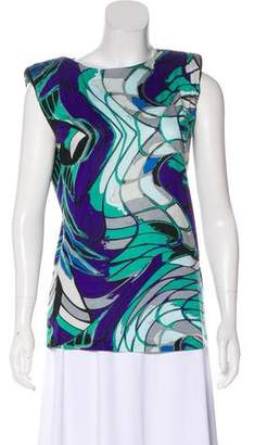 Emilio Pucci Printed Structured Top