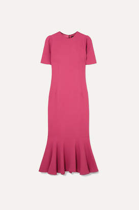 Dolce & Gabbana Fluted Stretch-crepe Midi Dress - Pink