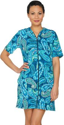 Denim & Co. Beach French Terry Zip Front Cover Up Dress