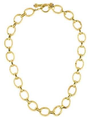 Elizabeth Locke Positano Link Necklace in 18K Gold, 17