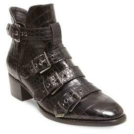 Design Lab Farr Embossed Buckle Booties