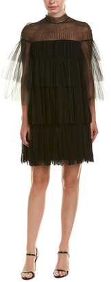 Valentino Pleated Tulle Shift Dress