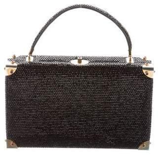 Judith Leiber Embellished Top Handle Bag