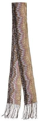 Missoni Woven Effect Patterned Scarf