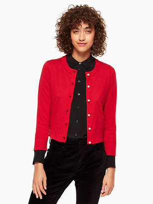Kate Spade Pearl button cropped cardigan