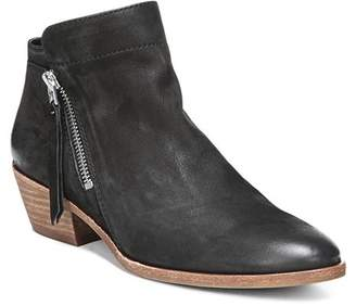 Sam Edelman Women's Packer Almond Toe Leather Low Heel Booties