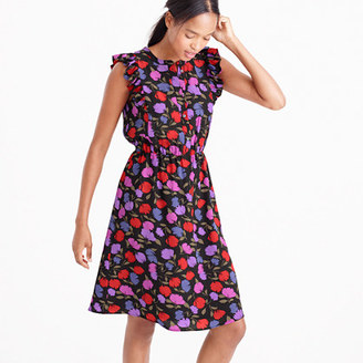 Flutter-sleeve dress in painted pansy $138 thestylecure.com