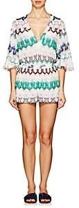 Missoni Mare Women's Striped Geometric-Knit Mini-Romper