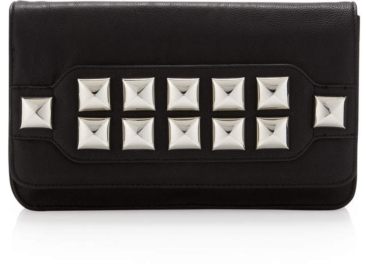 Betsey Johnson Stud Muffin Clutch Bag, Black