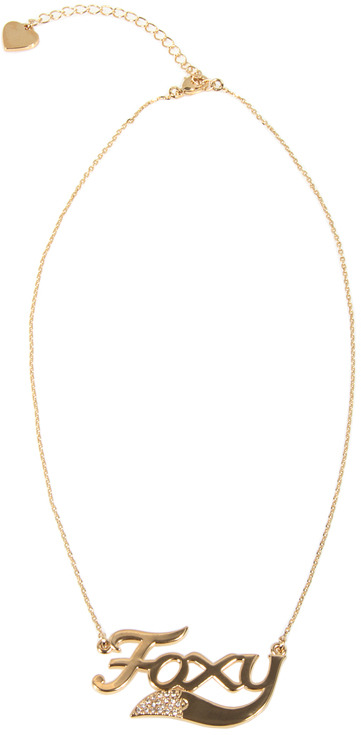 Wildfox Couture Foxy Necklace in Gold -