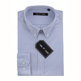 VERNO Verno Men's Slim Fit Dress Shirts with Stripes