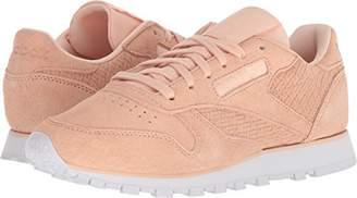 Reebok Women's CL LTHR Woven EMB Sneaker