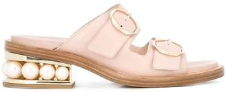 Nicholas Kirkwood 35mm Casati Pearl Two-Strap sandals