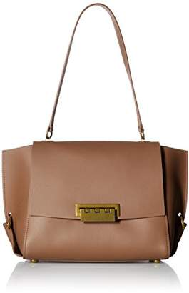 Zac Posen Eartha Folded Gusset Shoulder Flap-Beige