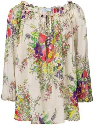 Blumarine floral loose fit blouse