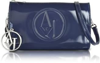 Armani Jeans Faux Patent Leather Mini Crossbody