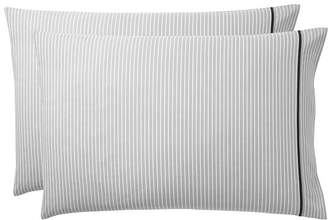 Pottery Barn Teen Oxford Stripe Sheet Set, Extra Pillowcases, Set of 2, Gray