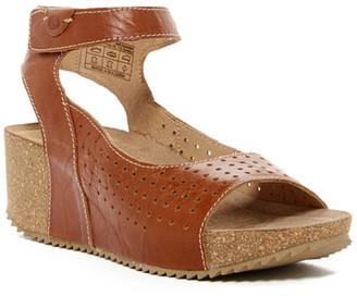 Josef Seibel Meike Wedge Sandal $135 thestylecure.com