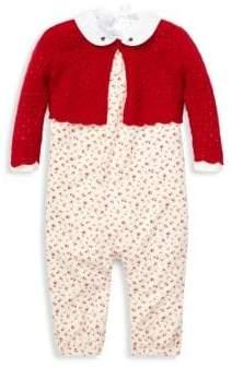 Ralph Lauren Baby Girl's Three-Piece Bodysuit, Overall& Sweater Set