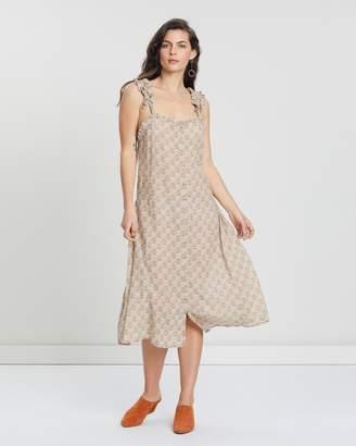 Terracotta Bloom Sun Dress